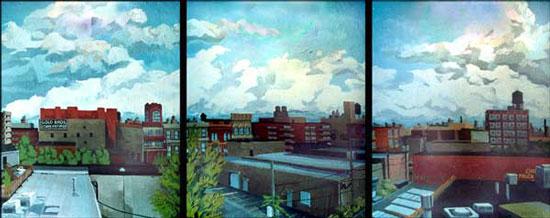 Near West Triptych (2002) by Joseph Spangler